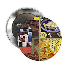 "Klee Collage 2.25"" Button"