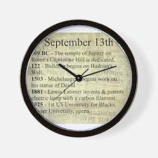 September 13th Wall Clock