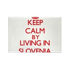 Keep Calm by living in Slovenia Magnets