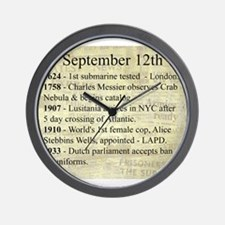 September 12th Wall Clock