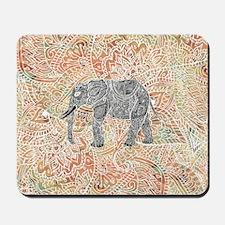 Tribal Paisley Elephant Colorful Henna P Mousepad
