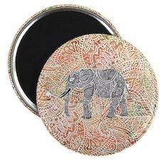 Tribal Paisley Elephant Colorful Henna Patt Magnet