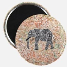 Tribal Paisley Elephant Colorful Henna Patt Magnet