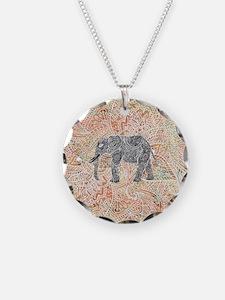 Tribal Paisley Elephant Colo Necklace