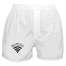 Home is where the wifi Boxer Shorts