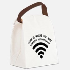Home is where the wifi Canvas Lunch Bag