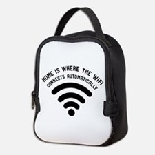 Home is where the wifi Neoprene Lunch Bag
