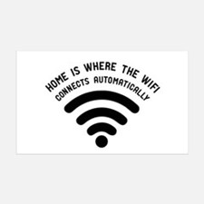 Home is where the wifi Wall Sticker