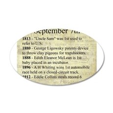 September 7th Wall Decal