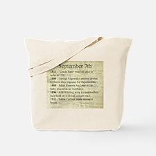September 7th Tote Bag