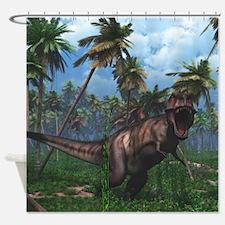 Tyrannosaurus 3 Shower Curtain