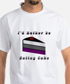 Asexual I'd Rather be Eating Cake Shirt