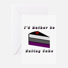 Asexual I'd Rather be Eating Cake Greeting Card