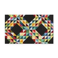 Quilt Patchwork Rectangle Car Magnet