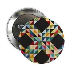 "Quilt Patchwork 2.25"" Button"