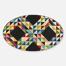 Quilt Patchwork Sticker (Oval)
