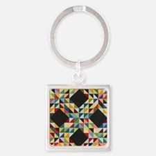 Quilt Patchwork Square Keychain