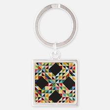 Quilt Patchwork Square Keychain