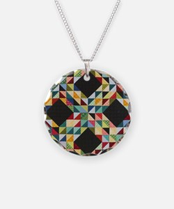 Quilt Patchwork Necklace
