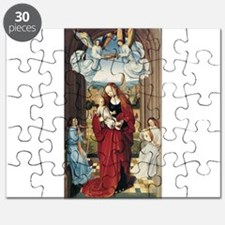 15th Centruy - Virgin and Child With Angels Puzzle