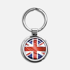 3D UK flag Round Keychain
