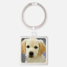 Sweet Dog Square Keychain