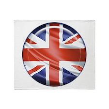 3D UK flag Throw Blanket
