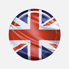 "3D UK flag 3.5"" Button"