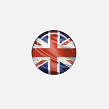 3D UK flag Mini Button