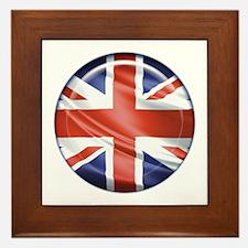 3D UK flag Framed Tile