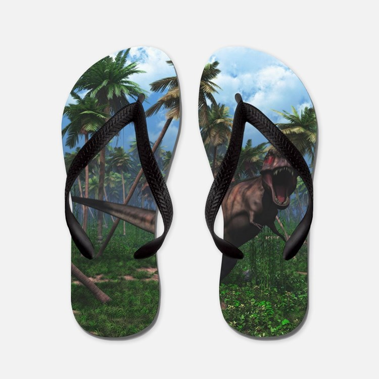 Tyrannosaurus 3 Flip Flops