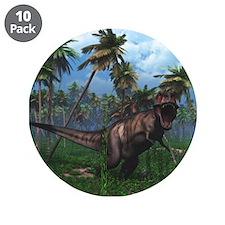"""Tyrannosaurus 3 3.5"""" Button (10 pack)"""