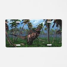 Tyrannosaurus 3 Aluminum License Plate
