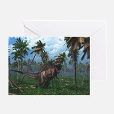 Tyrannosaurus 3 Greeting Cards