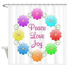 Peace Love Joy Shower Curtain