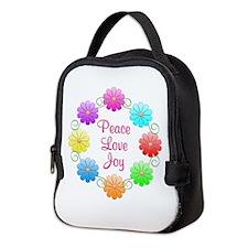 Peace Love Joy Neoprene Lunch Bag
