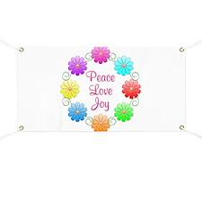 Peace Love Joy Banner