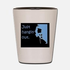 Just hangin' out - black-blue Shot Glass