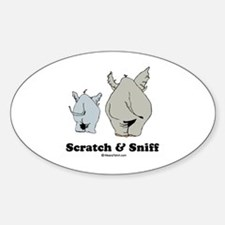 Scratch & Sniff Oval Decal