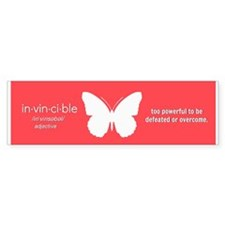 Invincible Bumper Bumper Sticker