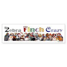 Zebra Finch Crazy Bumper Stickers