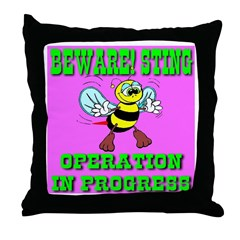 Beware! Sting Operation In Pr Throw Pillow