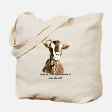 Over the Hill Old Goat Humor Quote Tote Bag