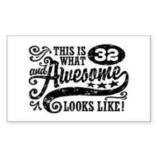 32nd Birthday Decal