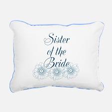 Blue Sister of the Bride Rectangular Canvas Pillow