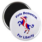 Vote Democrat for Liberty Magnet