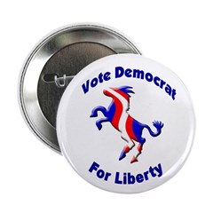 Vote Democrat for Liberty Button (100 pack)