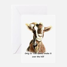 Over The Hill Old Goat Humor Quote Greeting Cards