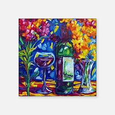 """A Good Wine Square Sticker 3"""" x 3"""""""