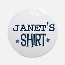 Janet Ornament (Round)